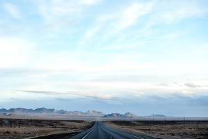 nebo, desert, asfalt, put, putovanje