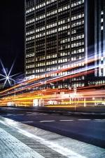 cars, light, night, road, street, urban