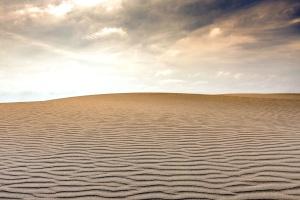 Sand, sand dune, hemel, wolken, woestijn, natuur