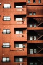 urbano, ventanas, apartamento, apartamentos, arquitectura