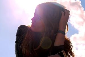 beautiful girl, sunlight