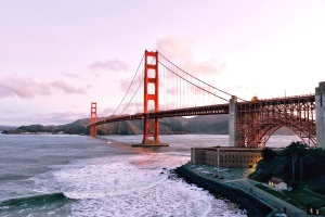 voda, vlny, most golden gate bridge