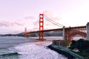 water, waves, bridge, golden gate bridge