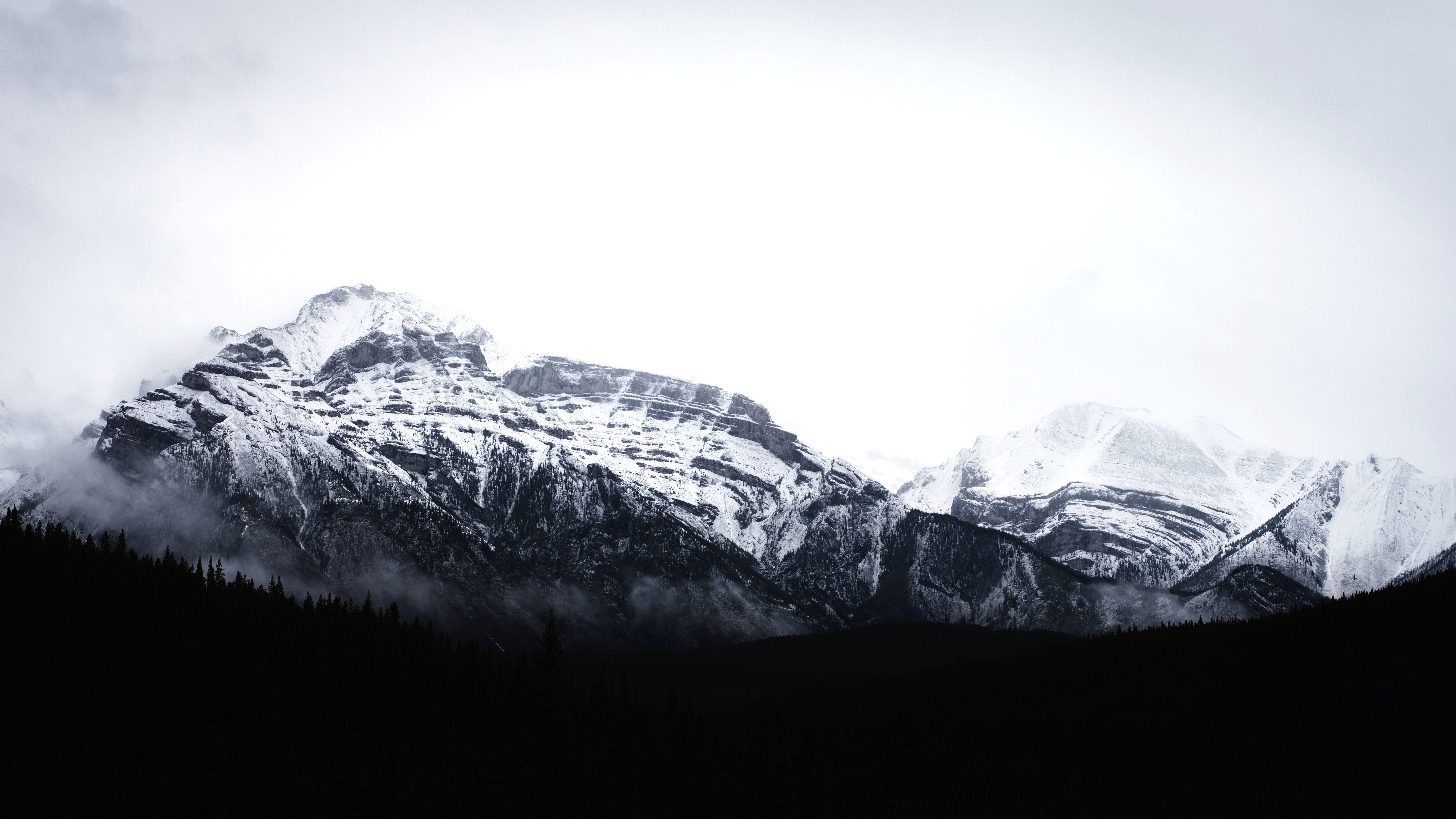Imagen gratis: nieve, cima de la montaña, invierno, montaña, pico