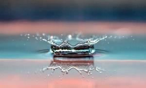 water splash, surface, macro, reflection