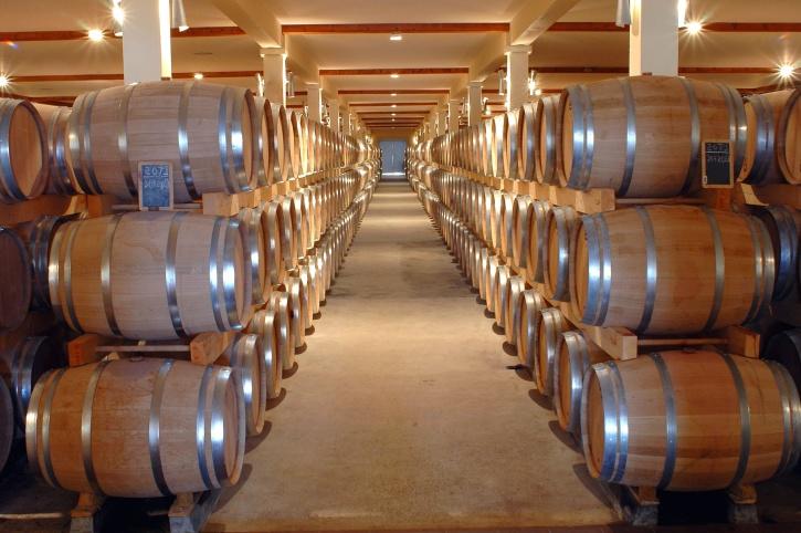 stack, barrel, basement, container, indoors, storage