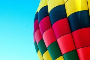balon, nebo, šarene, vrući zrak