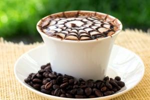 cappuccino, coffee, spider web, design