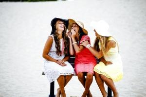red dress, woman, summer, women, happy
