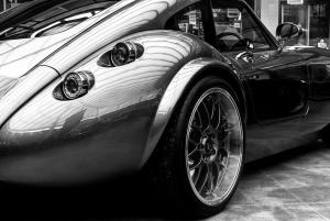sport, car, backside, tire