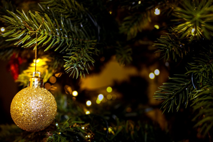 Kostenlose Bild: Goldenen Baum, Weihnachten, Schmuck, Dekoration