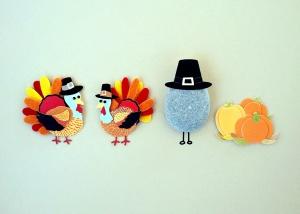 uccelli tacchino, arte, pellegrino, cappello, giorno del ringraziamento