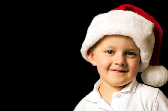young child, Christmas, Santa Claus, hat
