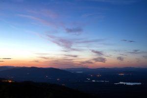 crépuscule, nature, paysage, coucher de soleil, ciel, nuages, montagnes, lac