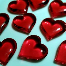 red hearts, love