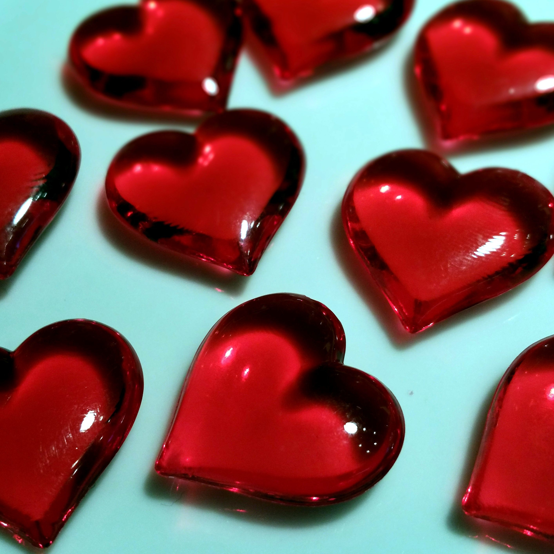 Imagen gratis: corazones rojos, amor