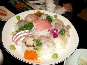 fish noodle, plate, food