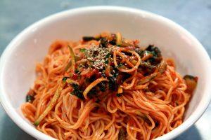 Korean noodles, bowl