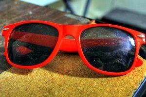 orange plastic sunglasses