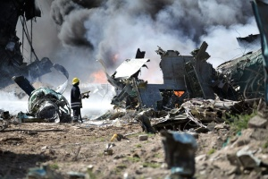 fireman, flame, smoke, vehicle, crash, distruction