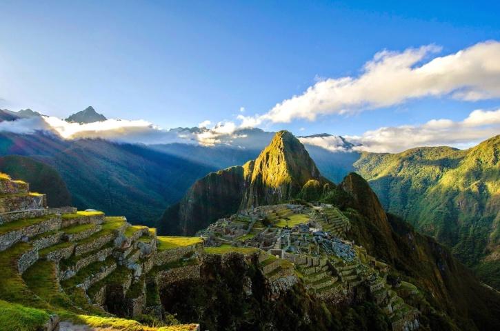 산, 야외, 풍경, 맑은