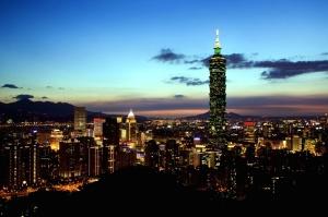 twilight, urban, buildings, business