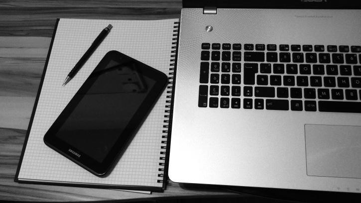 laptop, tabletta, számítógép, elektronika
