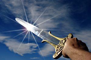 боку, меч