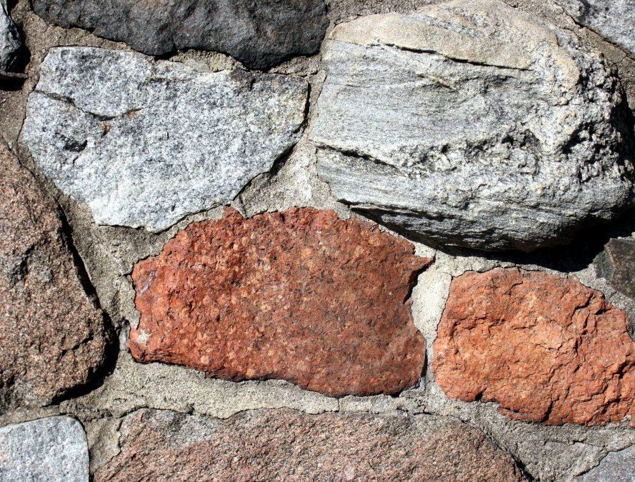 rocas de gran tamaño, textura de la pared