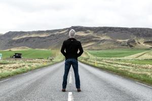 gras, hill, asfalt, platteland, veld