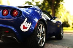 sticker, automobile, speed, sports, car, sticker