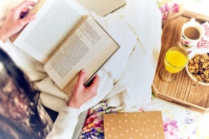 Buch, Seiten, Kaffeetasse, trinken, Papiere