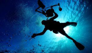 emberi, kamera, víz alatti