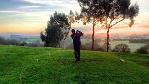 Golfspieler, Sport, Dämmerung