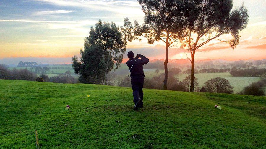golf, sport, sumraka