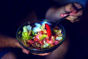 colorful noodles, salad