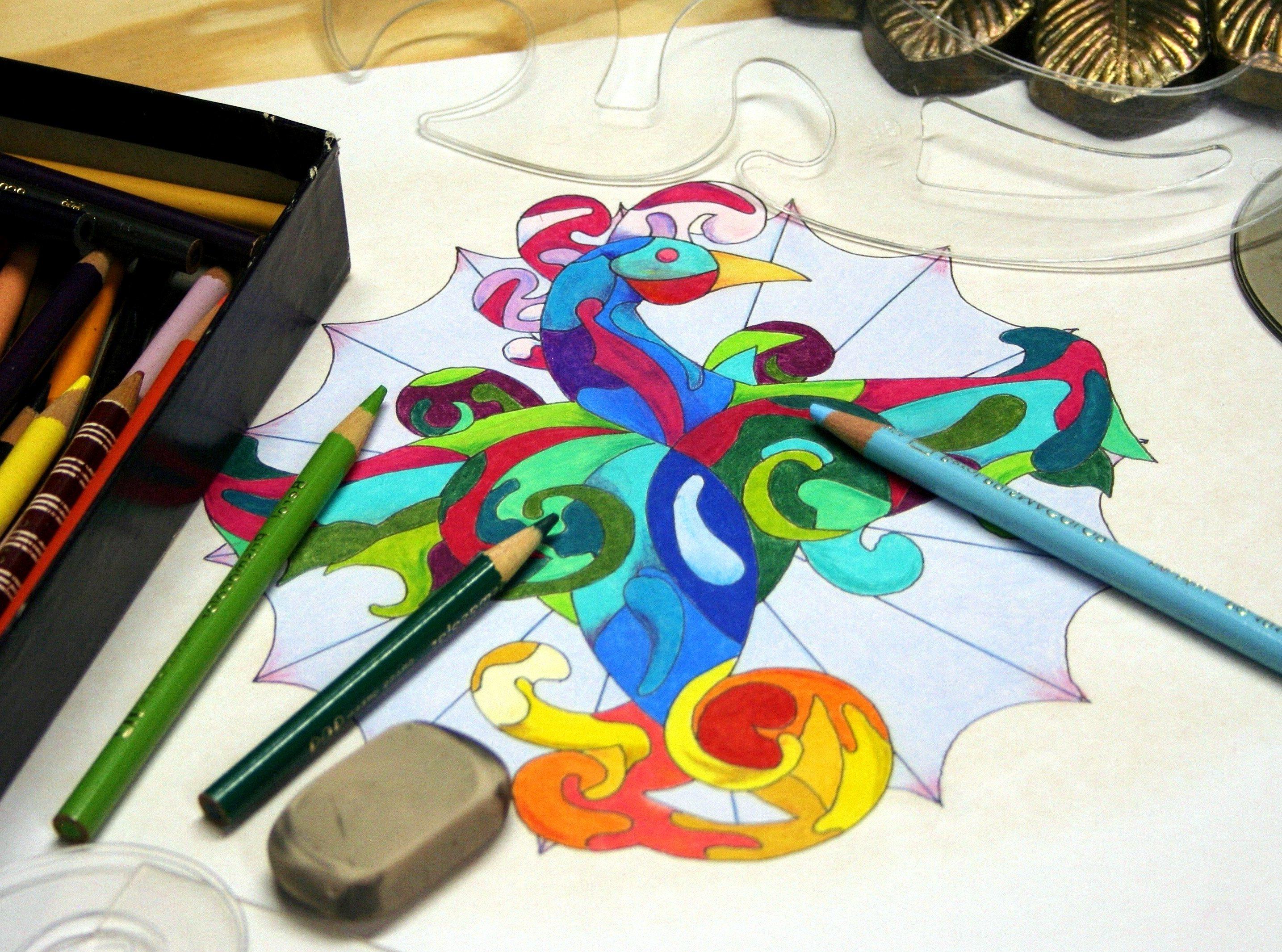 Imagen gratis: lápices de colores, plantillas