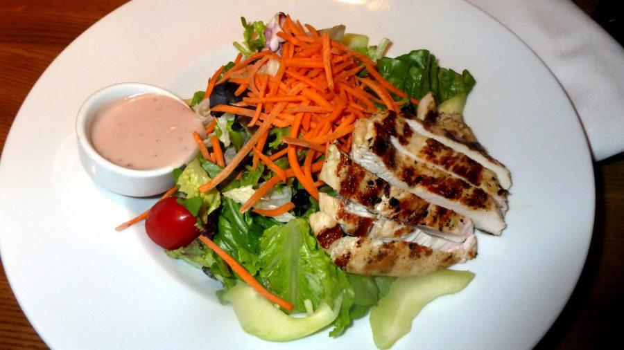 chicken salad, food, plate