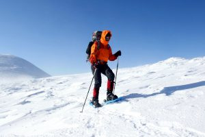 winter, hiking, snowshoes, mountain