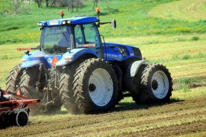 tractor, vehicle, field, agriculture, farm