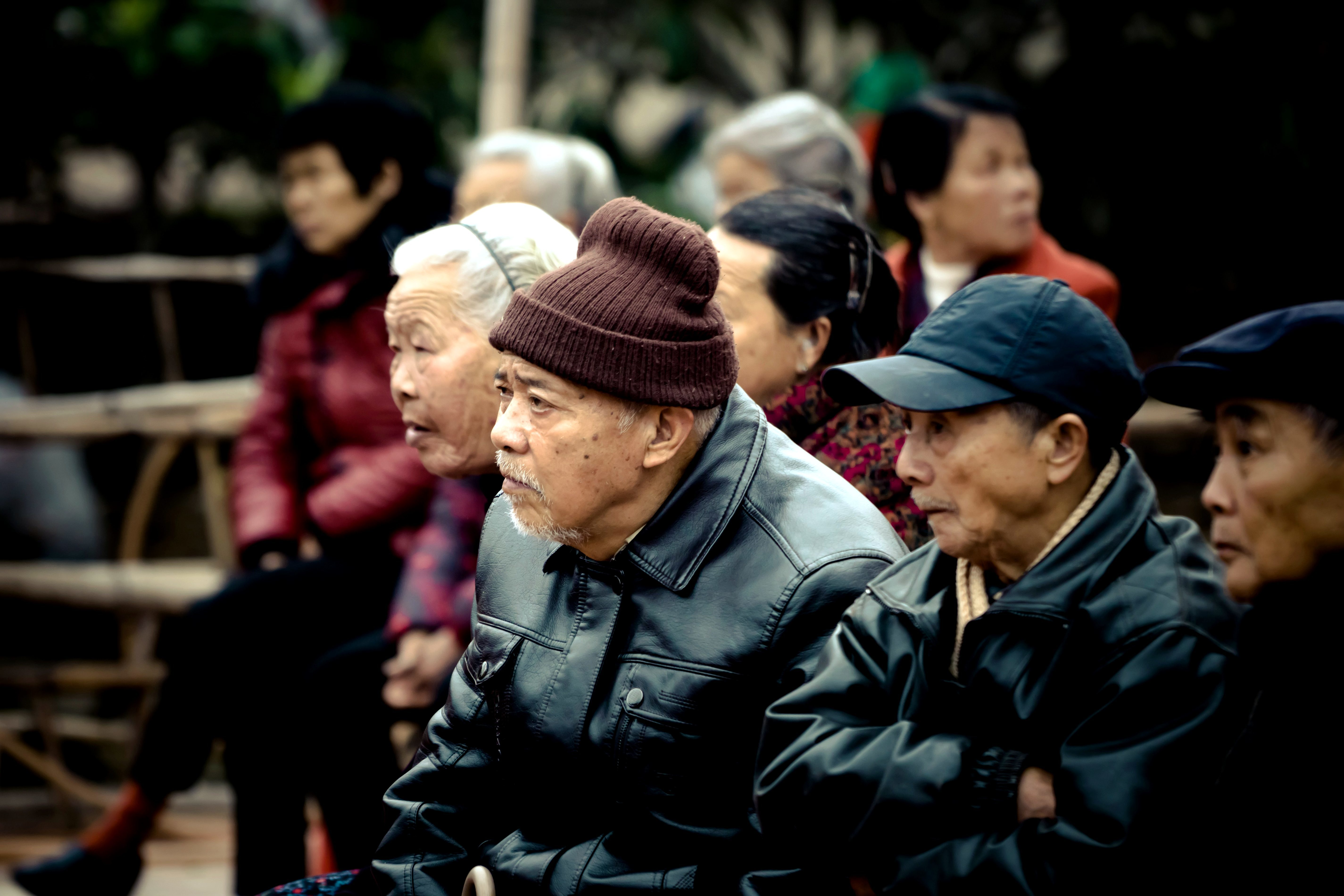Free Picture Old Asian People Crowd