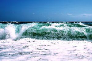 waves, seashore, seascape