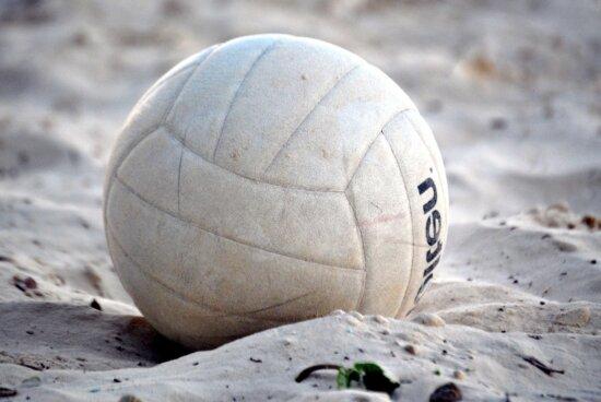 volleyball, sand