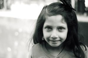 dívka, úsměv, mladé