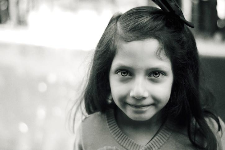 lány, mosoly, fiatal