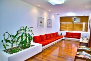 Appartement, stoel, eigentijds, vloer, meubels