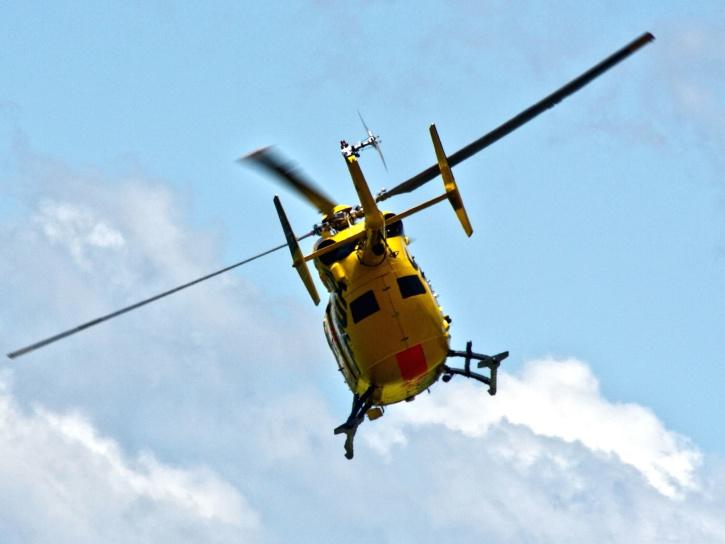 hélicoptère, hélice, rotor, jaune