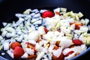 šalát, omáčka, chutné, rajčiaky, zeleninové