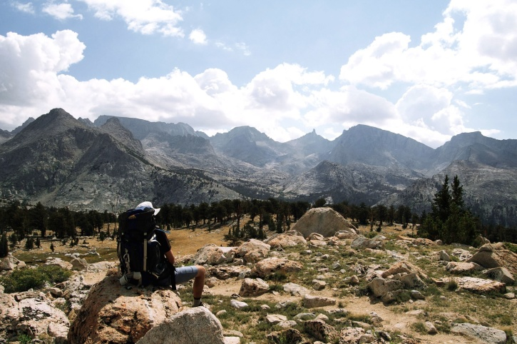 osoba, poušť, příroda, muž, mountain, rozsah