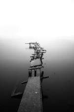 sea, dock, water, wooden